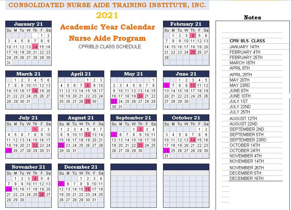 CPR Schedule